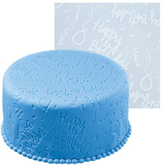 Base Marcadora em silicone Happy Birthday 50cm x 50 cm