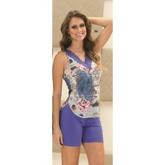 Short doll microfibra e renda Plus Size Recco 7894
