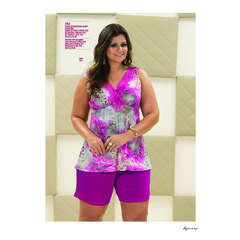 Short doll microfibra Plus Size Recco 7940