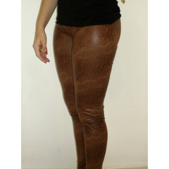 Legging Cirrê Animal Print Cobra Marrom