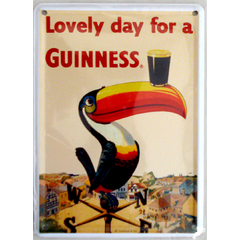 "Card Metálico - Cerveja Guinness ""Lovely day for a Guinness"""
